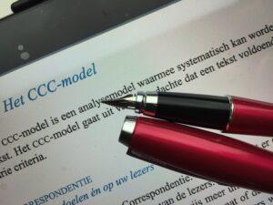 Met het CCC-model kun je de kwaliteit van een tekst toetsen
