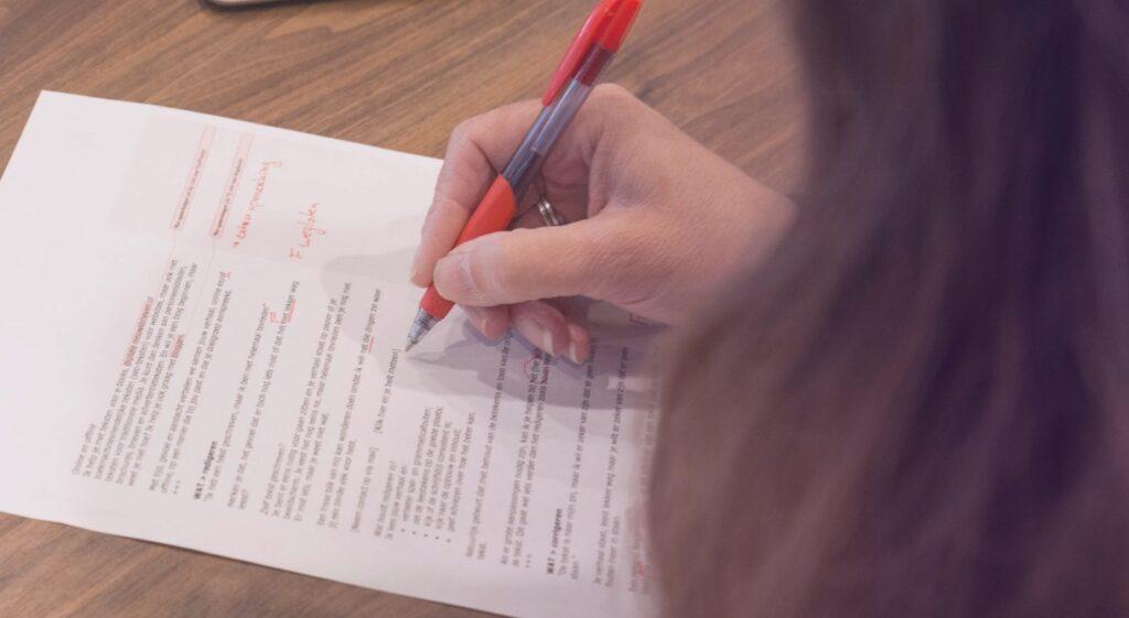 Corrigeren - TekstGevoel zorgt voor teksten zonder fouten